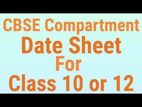 CBSE Compartment Board Exam 2019 Date Sheet, CBSE Compartment Class 10 & 12 Date Sheet - 7startech