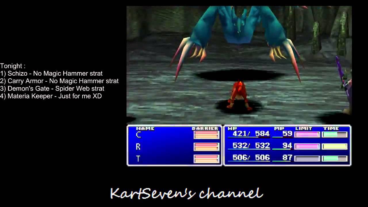 Final Fantasy 7 Speedrun Perfect Lucky 7 Materia Keeper YouTube