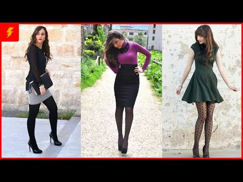 20 Outfits To Wear With Black Pantyhose