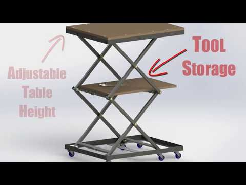 DIY Workshop Lift Table