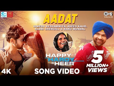 आदत | Aadat Song Lyrics Himesh Reshammiya and Ranu Mondal