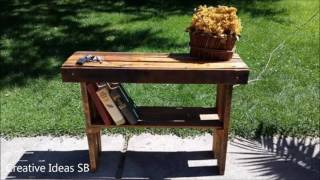 200 Creative DIY Pallet Furniture Ideas 2017 - Cheap Recycled Pallet - Chair Bed Table Sofa Part.1