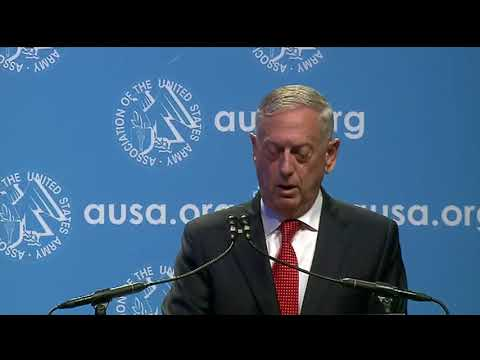 Sec. Def. Mattis delivers keynote at AUSA opening ceremony