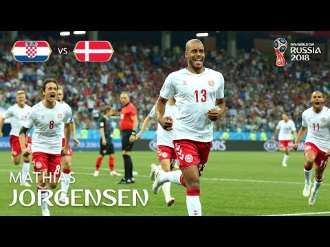 Mathias JORGENSEN Goal  - Croatia v Denmark - MATCH 52