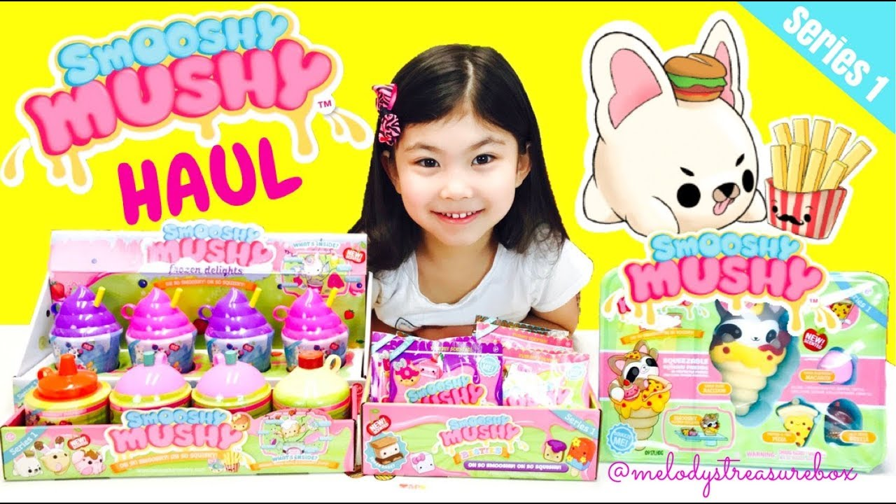 SMOOSHY MUSHY Squishies HAUL!! Besties Pets Frozen Delights Bento Scented Slow Rise Squishy ...