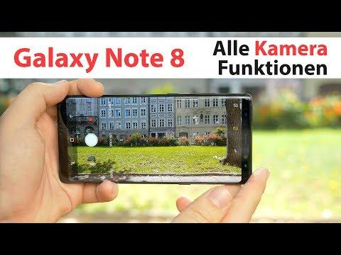 Samsung Galaxy Note 8 Kamera App – alle Funktionen, Tipps & Tricks | deutsch