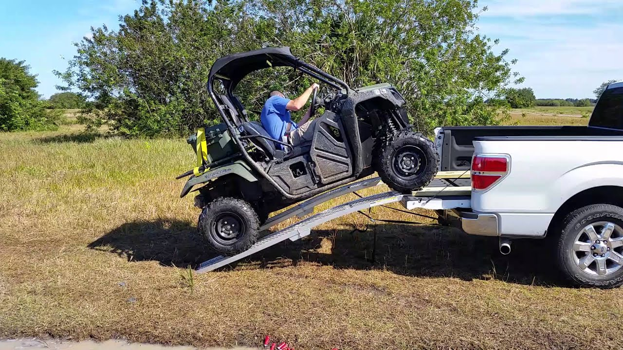 Loading My 2017 Honda Pioneer 500 Into Ecoboost F 150 With Yutrax Folding Ramps