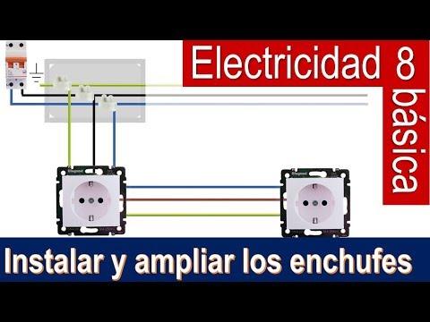 Electricidad b sica 8 instalar y ampliar enchufes bricocrack youtube - Poner linea telefonica en casa ...