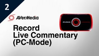 how to record live commentary with lgp pc mode