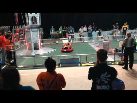 FRC 2016 Carson 2122 Team Tators flipped by BOB.