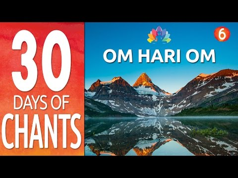 Day 6 ~ OM HARI OM ~ Mantra Meditation Music - Peaceful Chanting Meditation - Soothing Music