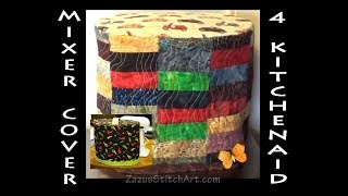 Free-Motion Quilt a Cover 4 Stand Mixer | Zazu's Stitch Art Tutorials