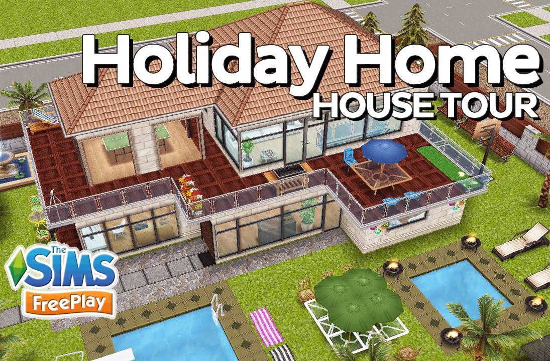 The Sims Freeplay - Modern holiday home (Original design) - YouTube