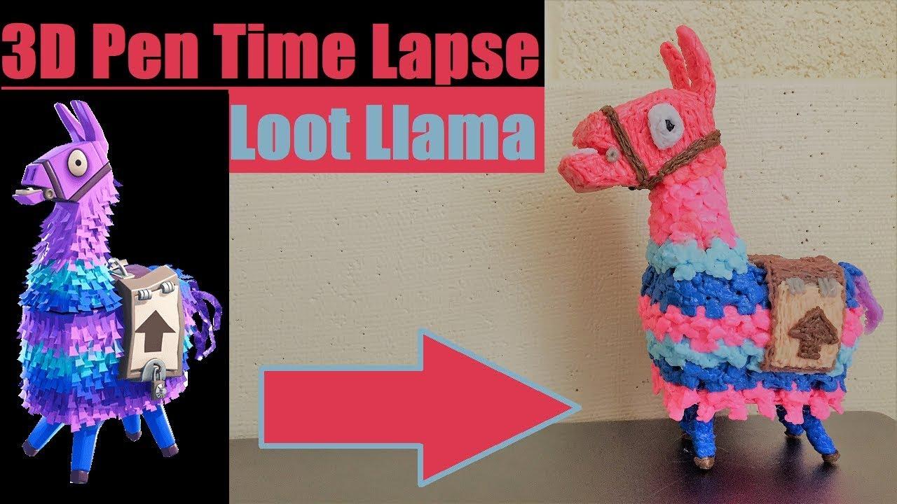 3d Pen Time Lapse Loot Llama Fortnite Battle Royale Youtube