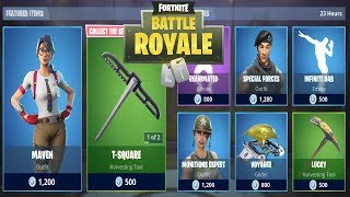 FORTNITE ITEM SHOP TODAY 6 JANUARY | NEW SKIN MAVEN, T-SQUARE | FORTNITE DAILY SHOP