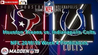 Houston Texans vs. Indianapolis Colts   NFL 2018-19 Week 4   Predictions Madden NFL 19