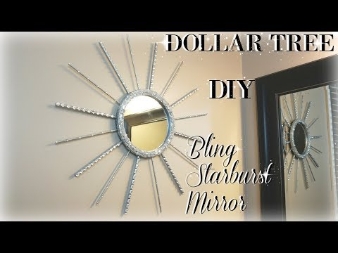DIY DOLLAR TREE BLING STARBURST MIRROR | DIY DOLLAR TREE | DIY MIRROR DECOR