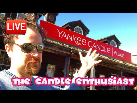 LIVE - Yankee Candle Village Flagship - NEW Fresh Baked Apple Cake Cup VS Tarte Tatin - BUSY!