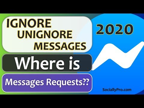 Ignore And Unignore Messages On Messenger 2020 Updated