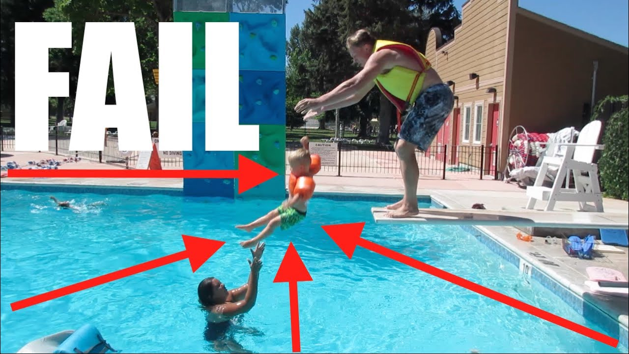 Diving Board Fail Swimming Lessons Swimming Pools Dyches Fam Youtube