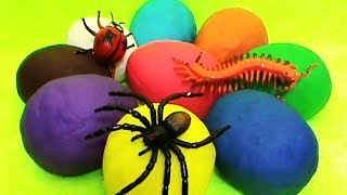 Insects Play Doh unboxing surprise eggs toys