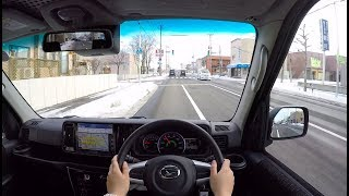 【Test Drive】 2017/2018 New Daihatsu Atrai Wagon Turbo 4WD - POV City Drive
