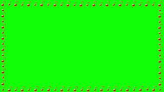 Green Screen Animation Notes Frame. Футаж рамка для видео youtube ноты музыка Zöld Scream