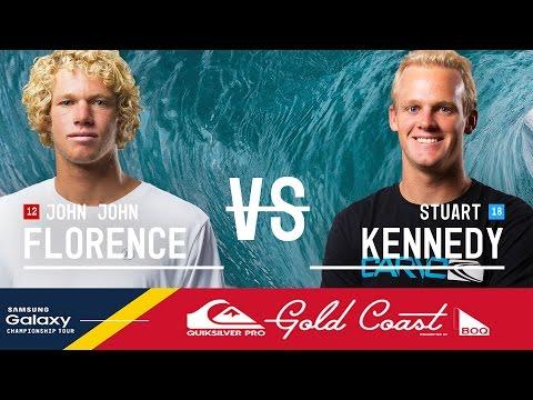 John John Florence vs. Stuart Kennedy - Quiksilver Pro Gold Coast 2016 Quarterfinals