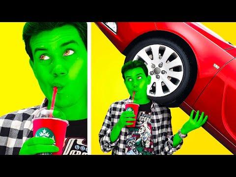 SÜPER KAHRAMANLAR OKULDA !! || 123 GO! BOYS Gerçek Hayatta Komik Güçlü Canavarlar ve Harika Şakalar