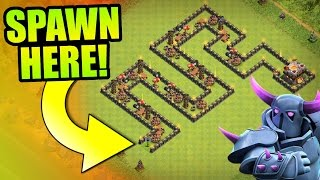 "Clash Of Clans - ""THE WORM"" Town Hall 11 Troll Base! - Insane Game Play 2016!"