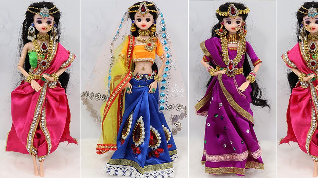 3 Doll decoration ideas with Clothes | Doll decoration ideas | #5