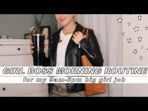 GIRL BOSS MORNING ROUTINE - My 9am-5pm office job