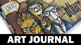 Art Journal | using distress oxide inks