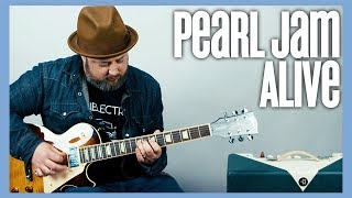 Pearl Jam Alive Rhythm & Lead Guitar Lesson + Tutorial