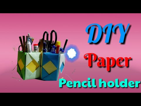 DIY paper pencil holder desk organizer