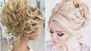 видео свадебная прическа на средние волосы