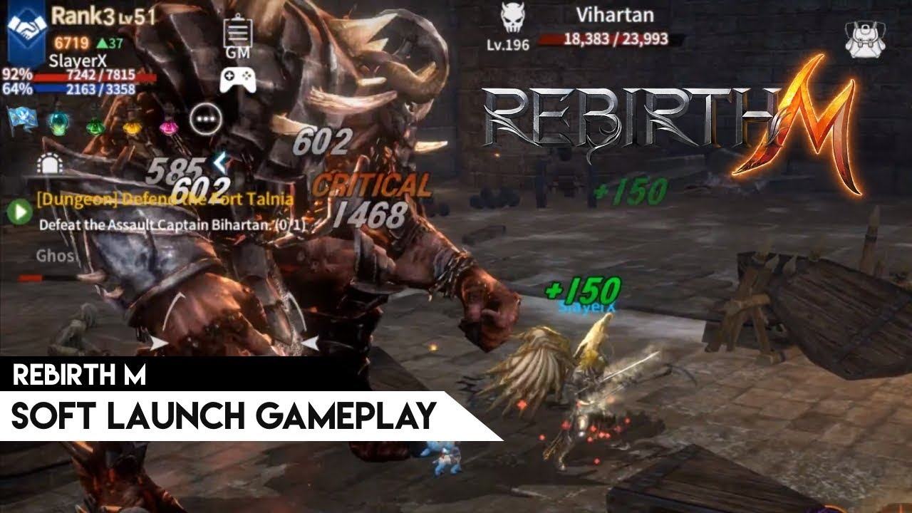 Rebirth M – New large-scale mobile MMORPG prepares for global launch