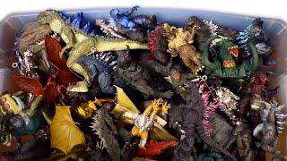 ВЕЛИЧЕЗНА КОРОБКА ГОДЗІЛЛА КОРОЛЬ МОНСТРІВ ІГРАШКИ!! 50 коробка фігурки галон розпакування WD з іграшками