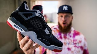 HOW GOOD IS THE NIKE AIR JORDAN 4 BLACK CEMENT? (Early In Hand & On Feet Review)