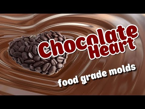 How To Make Chocolate Heart With Food Grade Silicone Mold