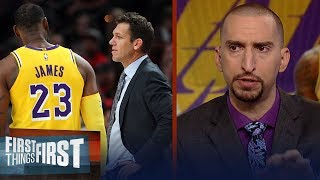 Nick Wright believes Jeanie Buss saved Luke Walton's job with the Lakers | NBA | FIRST THINGS FIRST