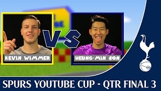 Spurs YouTube Cup ! 3rd Qtr Final - Heung-Min Son vs Kevin Wimmer ! Spurs TV !
