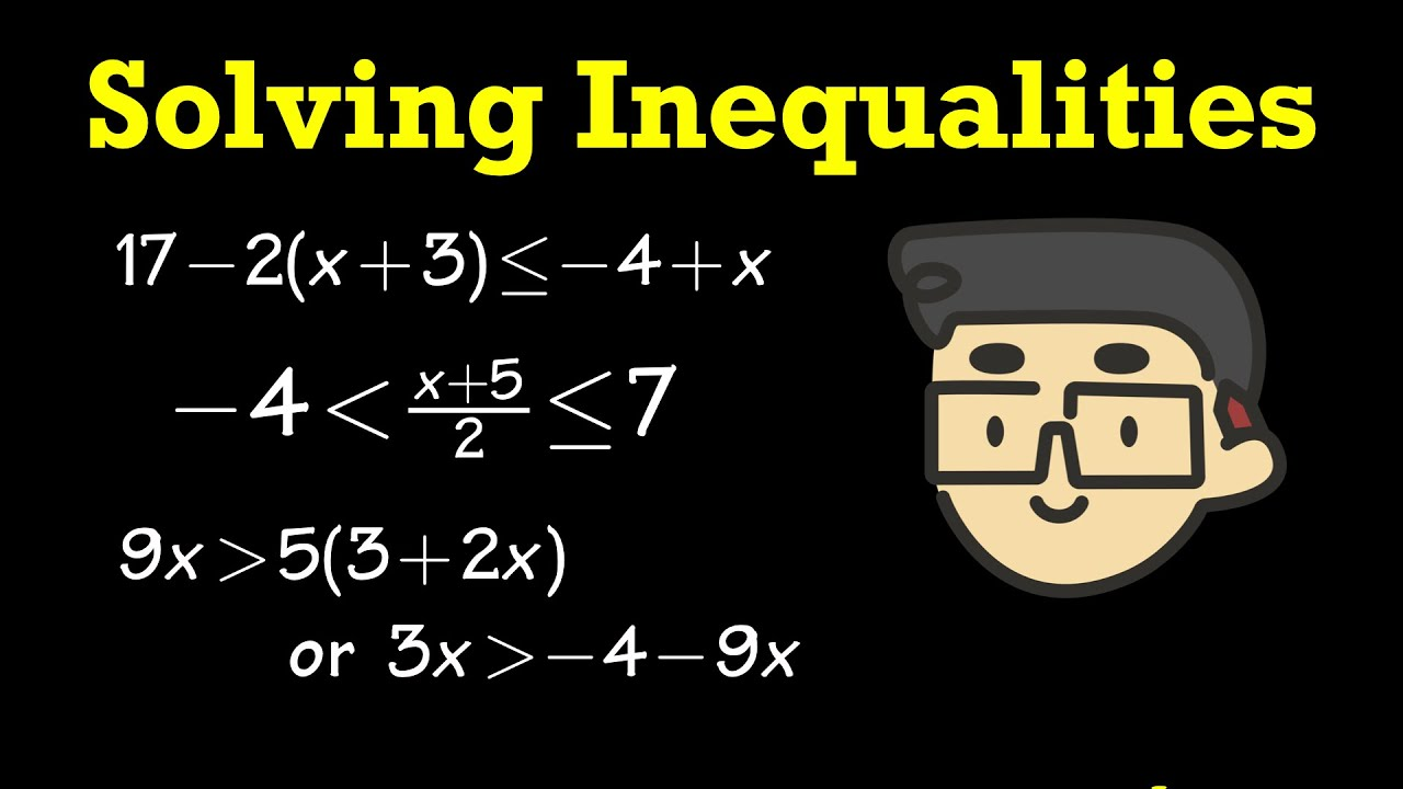 How To Solve Inequalities &pound Inequalities? (including Graphs &  Interval Notation)