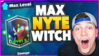 MAX NIGHT WITCH - Clash Royale Trophy Pushing Deck!