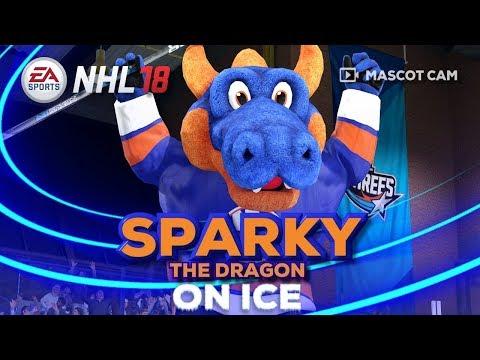 NHL 18 Mascot Cam on Ice | Sparky The Dragon (NY Islanders)