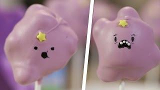 Lumpy Space Princess Marshmallow Pops - Quake N Bake