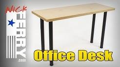 DIY Office Desk w/ Baltic Birch Top (ep72)