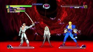 Marvel VS Capcom 2 - Jin/Morrigan/Captain Commando - Expert Difficulty Playthrough