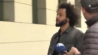 فيديو   فيروس كورونا يثير ذعر مارسيلو ويحذر صحفي: لا تقترب مني!