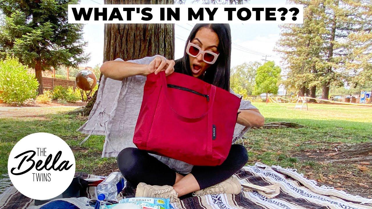 What's in Nikki Bella's tote bag?
